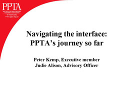 Navigating the interface: PPTA's journey so far