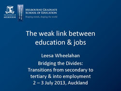 The weak link between education and jobs